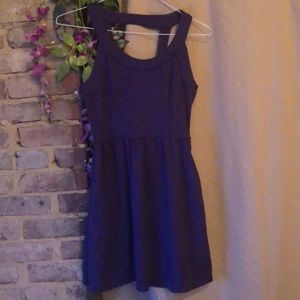 Purple fit & flare dress by Alyn Paige New York!